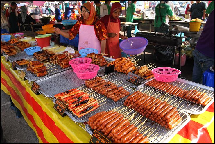 BBQ food stall