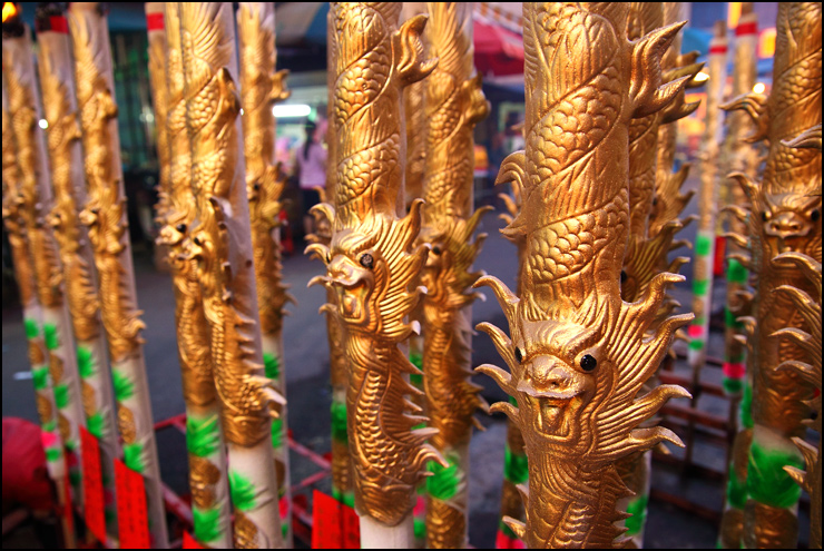 Pillar shaped Dragon joss sticks