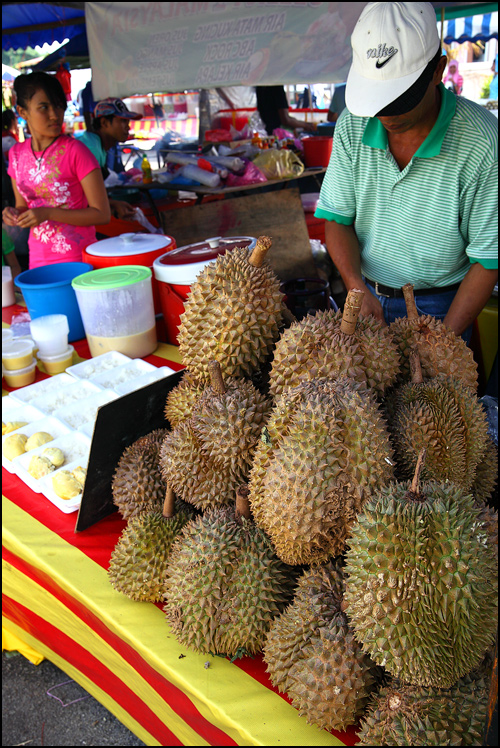 durian pulut stall