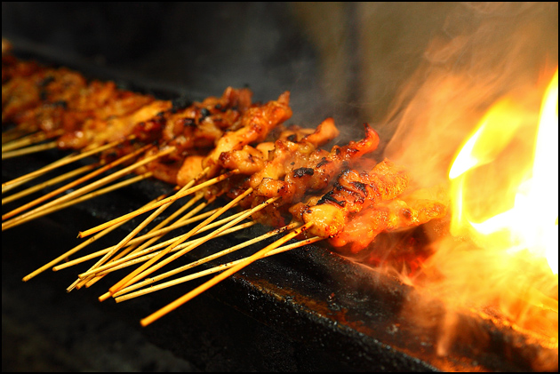 satay-on-fire