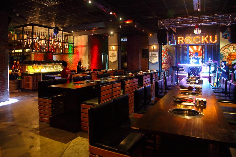 Rocku yakiniku japanese bbq buffet pavilion - Charcoal grill restaurant ...