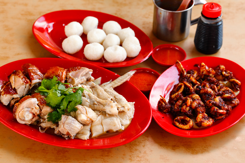 Ee Ji Ban Melaka Chicken Rice Ball