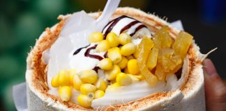 Coconut Ice Cream with Topping Buffet Chatuchak Weekend Market