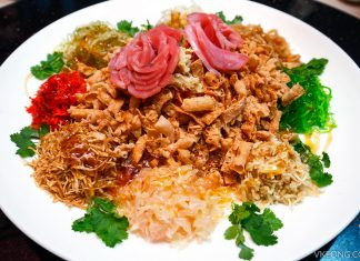 Li Yen Chinese New Year Menu Yee Sang