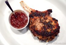CUT Wolfgang Puck Double Thick Iberico Pork Chop Marina Bay Sands