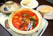 Malaysian Food Street Claypot Fish Head Curry