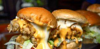 Stylish Burger Cheesy Fried Chicken Burger